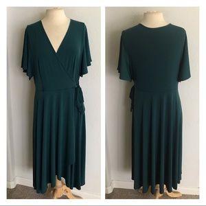Maitai faux wrap dress